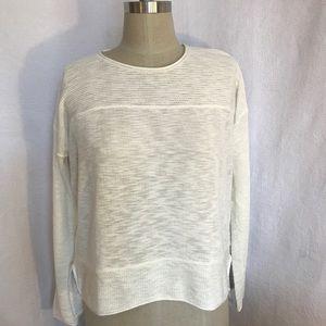 Line the label cream S cotton slub sweater